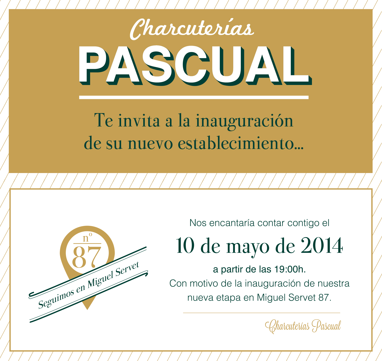 Invitacion Charcuterias Pascual