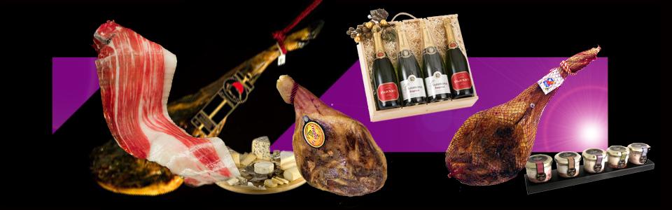 Jamones Pascual especialistas en lotes y cestas navideñas individualizadas.