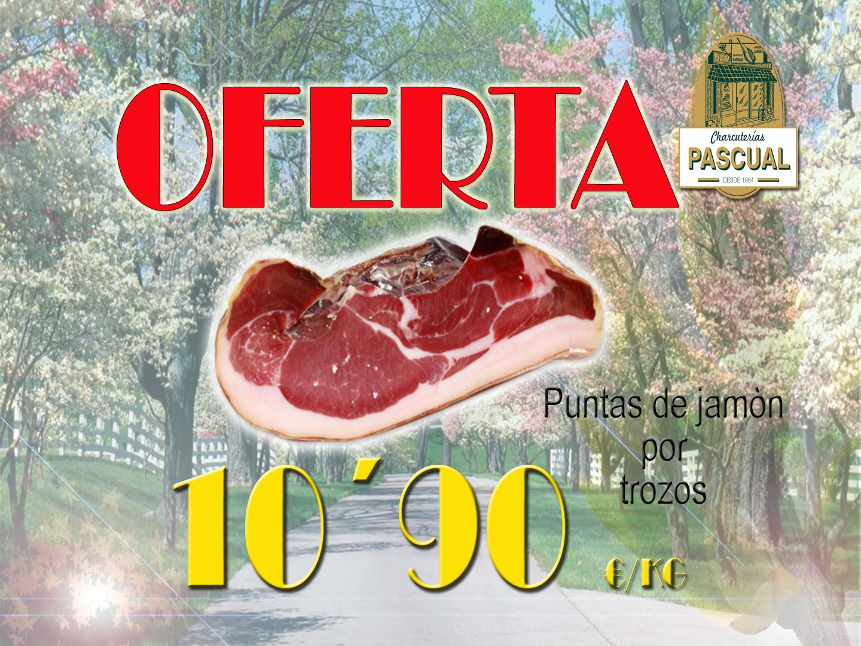 Ofertas puntas de jamón de Teruel por trozos
